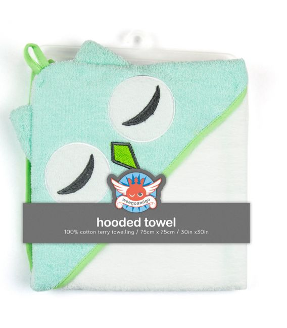 Weegoamigo Hooded Towel - Teal Owl