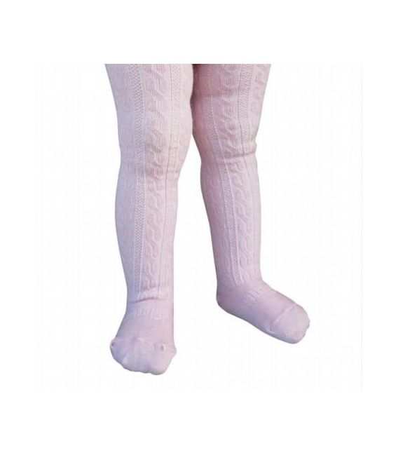 Lamington Girls Merino Cable Tights - Ballerina