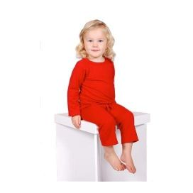 Sweet Cheeks Merino Top and Pants Pyjama Set (Red)