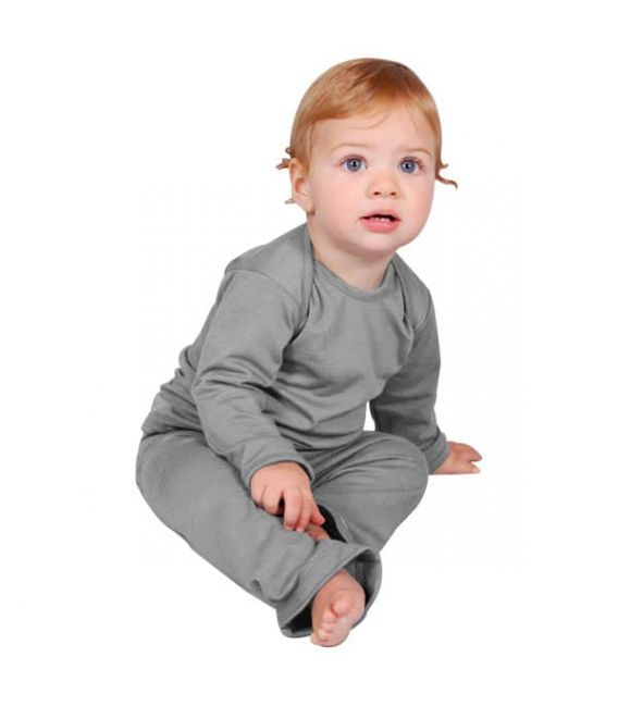 Sweet Cheeks Merino Top and Pants Pyjama Set (Grey)