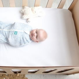 ergoPouch Bamboo Stretch Sheet Cot/Single Bed (Natural)
