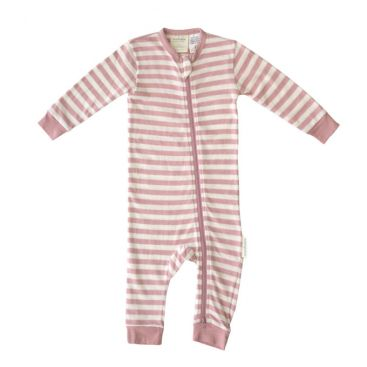 Woolbabe Merino/Organic Cotton Zip-up PJ Sleepsuit