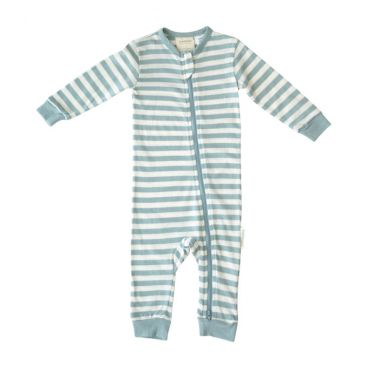 Woolbabe Merino/Organic Cotton Zip-up PJ Sleepsuit (Tide)