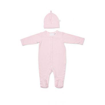 Marquise Pink Stripe Studsuit & Beanie Set