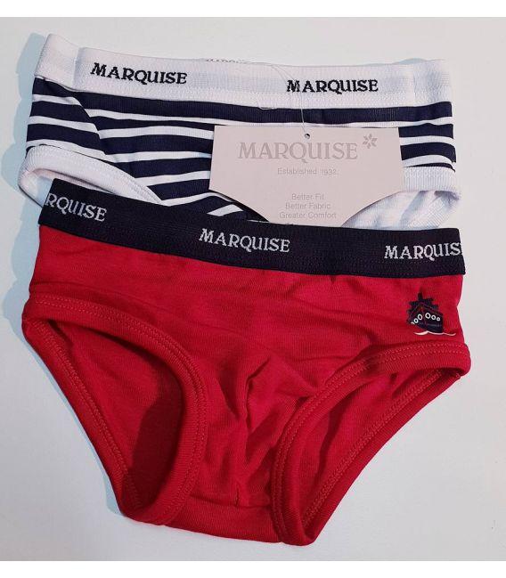 Marquise Boys 2pk Cotton Undies - Sailboat