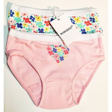 Marquise Girls 2pk Cotton Undies - Flowers