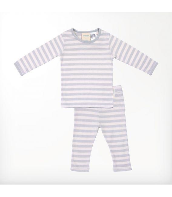 Woolbabe Merino/Organic Cotton Pyjamas - Pebble