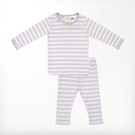 Woolbabe Merino/Organic Cotton Pyjamas - Pebble