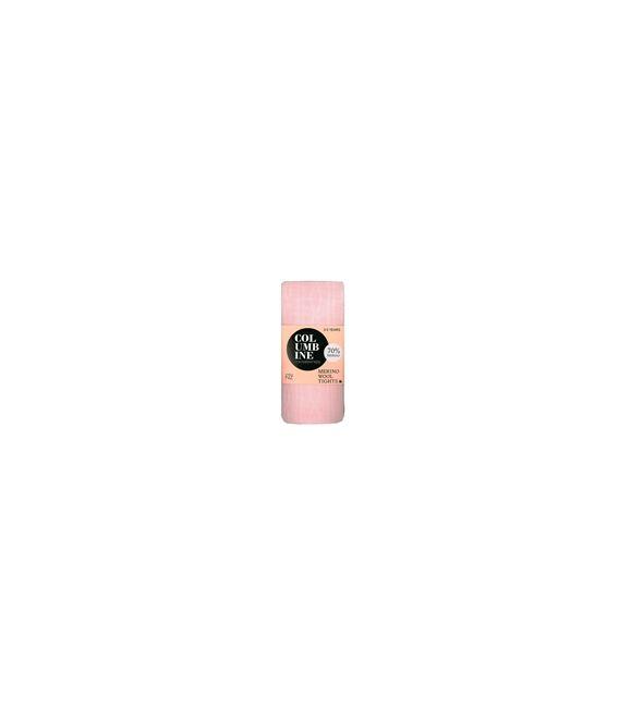 Columbine Merino Wool Cable Tights - Pink