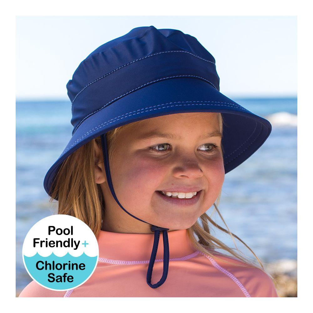 Bedhead Kids Bucket Swim Hat - Marine - Applecart Kids 392324bc3971