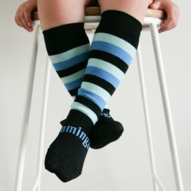 Lamington Merino Wool Kids Knee Socks - Jetty