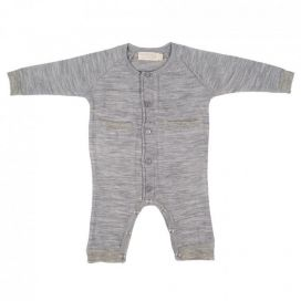 Merino Kids All In One Suit - Grey