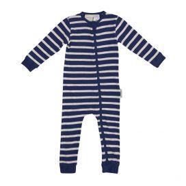 Woolbabe Merino/Organic Cotton PJ Zip Suit - 'New' Midnight