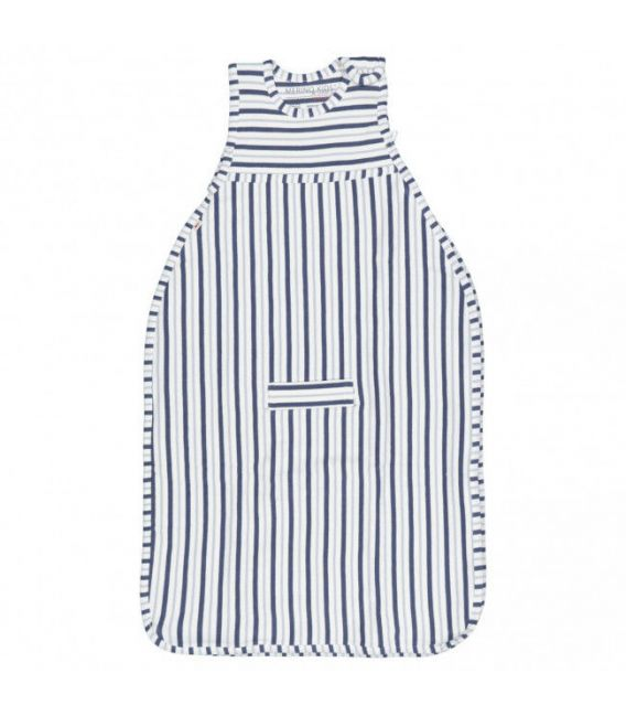 Merino Kids Duvet Weight Go Go Bag - Denim & Grey Stripe