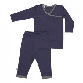 Merino Kids Pyjamas - NEW Denim & Grey
