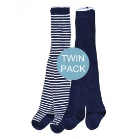 Marquise Cotton Tights Twin Pack 'Navy'