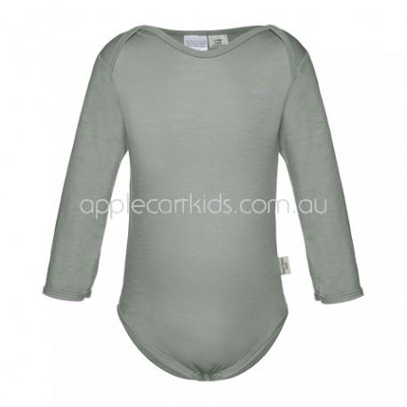 Sweet Cheeks 100% Merino Bodysuit - Grey