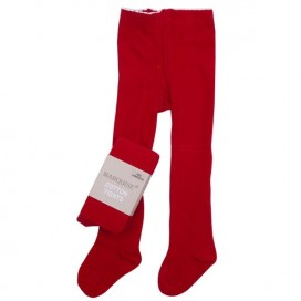 Marquise Knitted Cotton Tights 'Red'