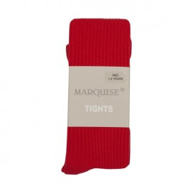 Marquise Cotton Tights 'Red Chunky Rib' Sizes 0 to 6 yrs