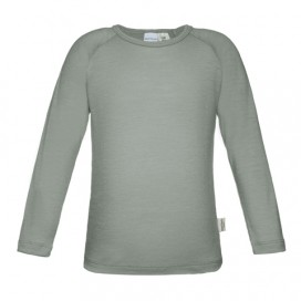 Sweet Cheeks 100% Merino Kids Long Sleeve Top 'Grey' Size 1-2, 5-6, 7-8yrs