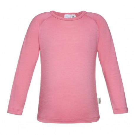 Girls 100% Merino Long Sleeve Top 'Candy Pink' Size 1-2, 3-4, 5-6, 7-8yrs