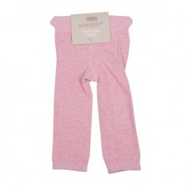 Marquise Footless Cotton Leggings 'Pink Marle' Sizes 0 to 3 yrs