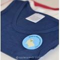 Sweet Cheeks Merino Kids Singlet 'Blue Night' Size 3-4, 5-6, 7-8yrs
