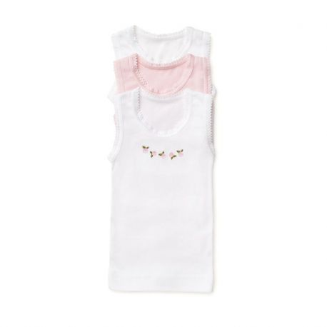 Marquise - 3pk Singlets - Girls White/Pink/Rose 000, 00, 0, 1