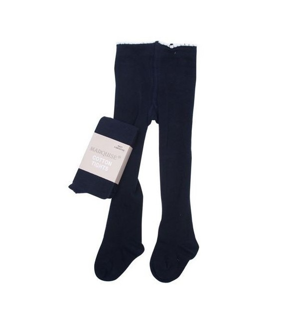 Marquise Knitted Cotton Tights 'Navy'