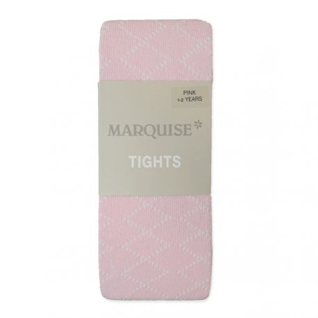 Marquise Cotton Tights 'Pink - Diamond Effect' Newborn, 0-6mths, 6-12mths, 1-2yrs
