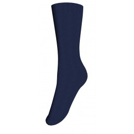Columbine Plain Merino Wool Crew Sock - Navy 2-4, 5-7yrs
