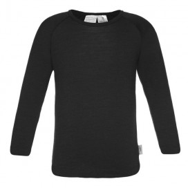 Sweet Cheeks Kids Long Sleeve Merino Top 'Black'