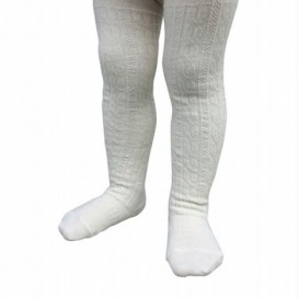 Lamington Girls Merino Cable Tights - NEW Cream Cable