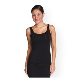 Bamboo Body Women's Bamboo Scoop Singlet - Black