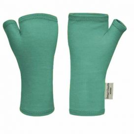 Sweet Cheeks Merino Fingerless Gloves (Teal)