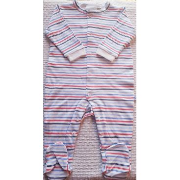 Marquise Cotton Studsuit (Blue Stripe)