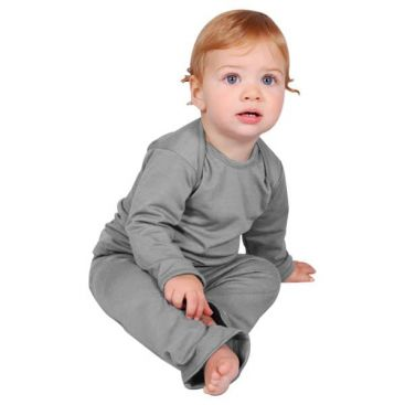 Sweet Cheeks Merino Top and Pants Pyjama Set (Grey)