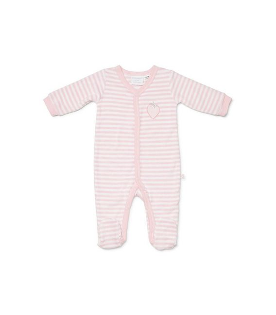Marquise Terry Towelling Strawberry Studsuit