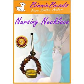 Binnie Beads Baltic Amber Nursing Necklace - Cherry