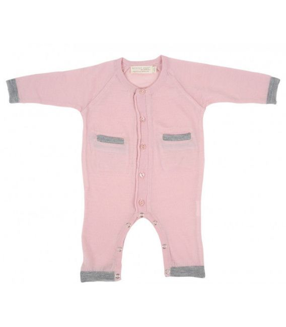Merino Kids All In One Suit - Pink