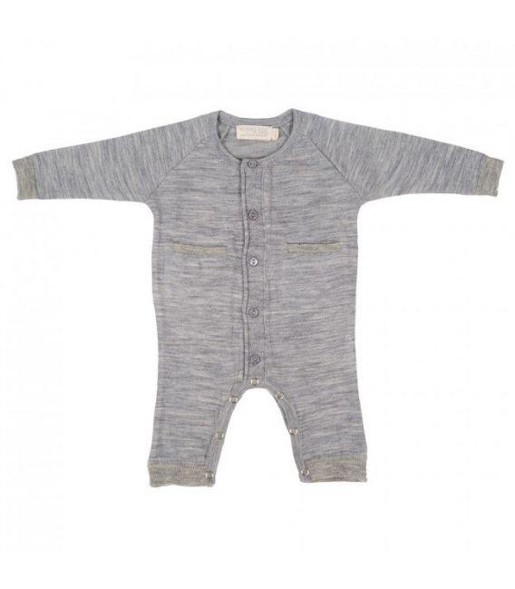 Merino Kids All In One Suit - Grey