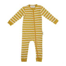 Woolbabe Merino/Organic Cotton PJ Zip Suit - Kowhai