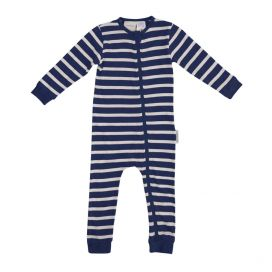 Woolbabe Merino/Organic Cotton PJ Zip Suit - 'New' Midnight