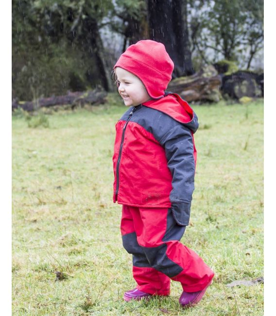 Puddle Jumpers Lined Waterproof Jacket - Red/Navy
