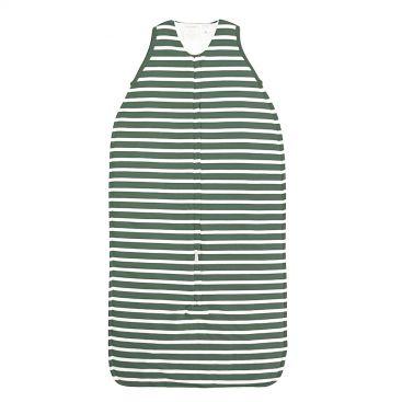 Woolbabe Duvet Baby Sleeping Bag - Front Zip - Fern Stripe