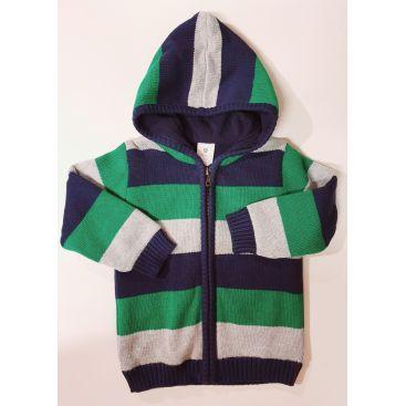 Korango Lined Chunky Knit Jacket - Dragon