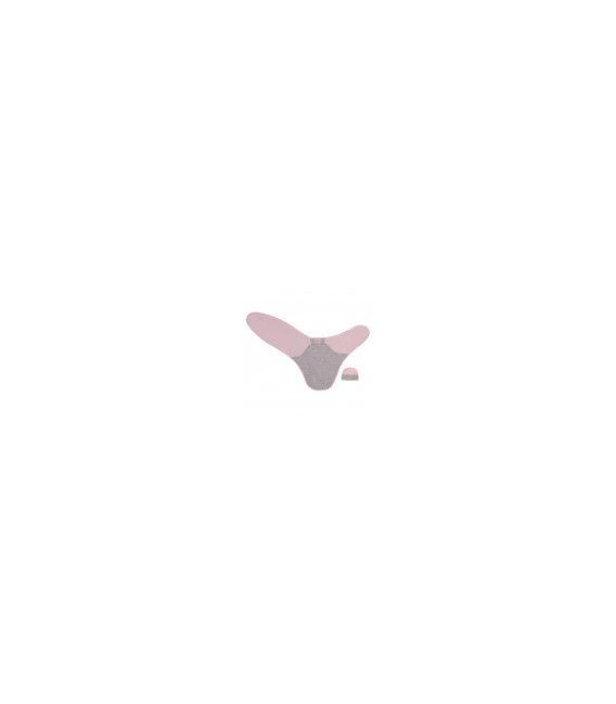 Merino Kids Cocooi Newborn Swaddle Wrap + Beanie - Pink/Grey 0-3mths