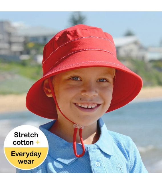 Bedhead Bucket Hat with Strap - Red