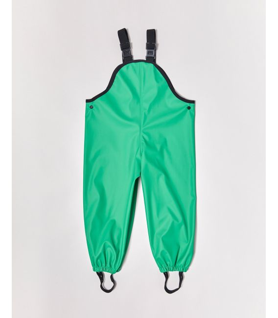 Rainkoat Kids Waterproof Overalls - 'New' Astro Green